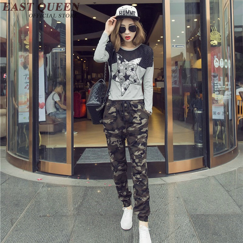 Womens camouflage pants military pants women Army Military Green Camouflage Trousers woman military pants DD189 C