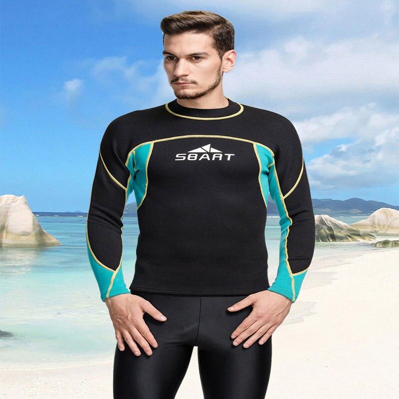 Neoprene Mens Wetsuit Jacket Pullover Long Sleeve Top 2MM SCUba Wet Suit Warm Diving Swimwear surfing snorkeling M-3XL<br><br>Aliexpress