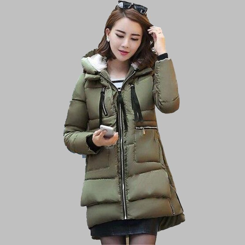 Women Military Winter Jacket Latest Fashion Hooded Down jacket Thick Warm Cotton Coat Loose Large size Ladies Outerwear OK260Одежда и ак�е��уары<br><br><br>Aliexpress