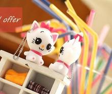 100% real capacity cheap white cat model 8GB 16GB USB Flash Drive Thumb/Car Pen drive Personality Gift S104 AA(China)