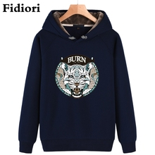 Buy Fidiori 2017 new men's casual hoodies sweatshirt print tiger trend comfortable pullover thick plus fleece warm clothes. for $27.74 in AliExpress store