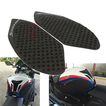 One set Black Color Motorcycle Tank Traction Side Pads Gas Fuel Knee Grip Decal For BMW S1000RR 2010-2015