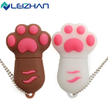 2017 LEIZHAN Cute Cat Claw USB Flash DrivePen Drive Pendrive 2.0 64/32/16/8/4gig External Storage USB Stick Computer Memory Card