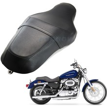 1pcs Vintage Black Motorcycle Seat Driver & Rear Passenger Seat Two Up For Harley Davidson XL883N XL1200 10-16 US Shipping #6775(China)