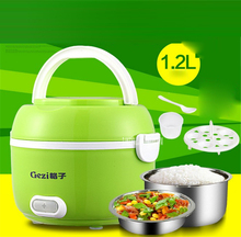 GZ05 Portable electric lunch box double layer can be heated lunch box plugging insulation cooking electric box electric steamer(China)