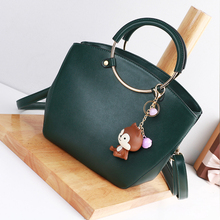 Bailar women's leather handbags messenger shoulder Shell Ring carrying strap fashion famous brand high quality leather bags hot