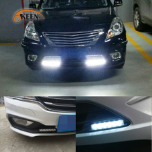 OKEEN Car Styling New product 8W LED  Universal DRL Daytime Running Light bumper Front lights white Black