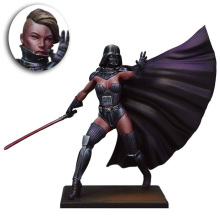 Unpainted Kit 1/24 75mm  Star Wars female  Vixen Lord 75mm   figure Historical WWII Figure Resin  Kit Free Shipping