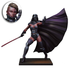 Unpainted Kit 1/24 75mm Star Wars female Vixen Lord 75mm figure Historical WWII Figure Resin Kit Free Shipping(China)
