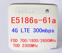 Cat6 300Mbps unlocked Huawei E5186 E5186s-61a LTE 4g wireless router 4g mifi dongle cpe car wifi router pk b593 b890 b880