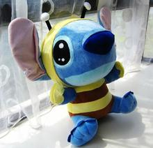 creative bee design lovely stitch about 20cm plush toy,soft toy, kid's toy Christmas gift h671(China)