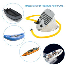 Inflatable Boat Kayak Foot Pump 3L/5L Raft High Pressure Foot Pump Air Pump with 58mm Long Hose Adaptor for Drifting SUP Board