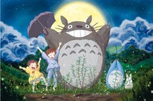 Happy Totoro Cartoon puzzles wooden puzzles 1000 pieces adult puzzles wooden jigsaw puzzle 1000 pieces toys for children(China)