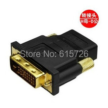 10pcs/lot 2016 HOT DVI 24+5 Male to HDMI Female Converter HDMI to DVI adapter Support 1080P for HDTV LCD free ship with track