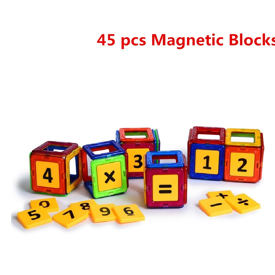 45pcs Magic Building Block Magnetic Toys Preschool Skills Educational Game Construction Stacking Sets Magnetic Blocks Bricks<br><br>Aliexpress