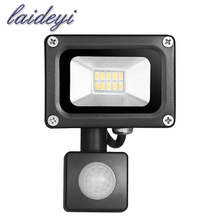 1Xpcs led security flood light 10W 220VAC Sensor Led Flood light SMD IP65 waterproof for street square highway wall billboard(China)