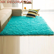 NK DECORATION Top Qualitity Blue House Carpet Not Anti-Skid Shaggy Area Rug Floor Mat for Home Living Room Kids Room Bedroom(China)