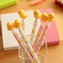 1pcs/lot Cute Yellow Duck design ballpoint pen Rilakkuma friends roller pens 0.5MM Blue zakka gift school supplies stationery