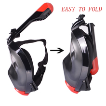 Anti Fog Full Face Snorkeling Mask Diving Snorkel 2 In 1 For Gopro 180 Degree Dry Easy Free Breath Dive Gear Tube training macka(China)