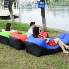 outdoor portable air beach bed Inflatable Camping Air Sofa banana Sleeping Bag lounger lazy bag laybag Inflatable chair Lounger