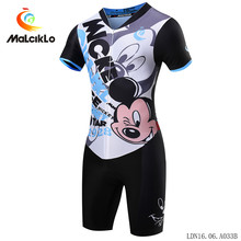 MALCIKLO 2017 Triathlon Mtb Cycling Short Sleeve Jumpsuit Breathable One-piece Jersey Race Clothing for Women
