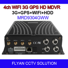 4ch HD MDVR 3G GPS WIFI HDD 1 x 1080P IPC POE + 4 x 720P AHD / 960H / D1 CMS/IVMS for vehicle/auto/school bus/taxi/truck