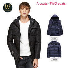 Combo Clothing new brand clothing jackets thick keep warm men is down jacket high quality hooded down jacket winter coat Male(China)
