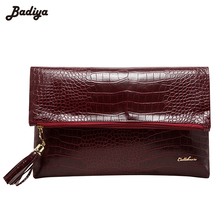 Luxury Zipper Tassel Ladies' Clutches Handbags Alligator Pouch Women Bags for Evening Party Phone Purse Fold Bag Bolsa Feminina