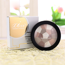 4Colors Face Matte Shimmer Powder Long-Lasting Foundation Makeup Concealer Puff Contour Nude Compact Cosmetics(China)