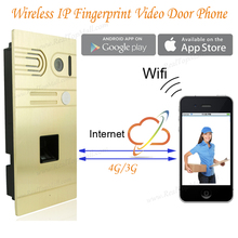 DIY Wireless Wifi IP Fingerprint Video Door Phone Wireless IP Intercom System Home Intercoms Remote Control Camera Doorbell
