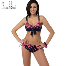 TRIKINI Bikinis Bathing Suit Push up Large Cup Bikini set Women Swimwear Sexy Swimsuit Brand Plus size