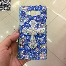 For Samsung Galaxy On5 /On7 Jewelled Butterfly Crown Cat Cross Crystal Cover Luxury Diamond DIY Handmade G5500 G6000 Phone Case(China)