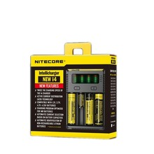 NITECORE New Original Package I4 Digicharger 18650/14500/Li-ion Rechargeable Battery Charger Universal Charger + Charging Cable(China)