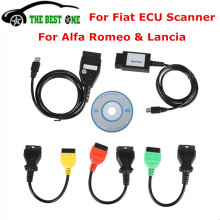 Best Quality For Fiat ECU Scanner Diagnostic Scanner Tool For Fiat ECU Programmer With 5pcs Full Cables For Alfa Remeo & Lancia