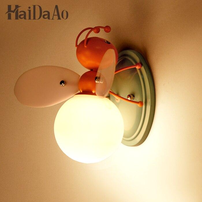 Children room boys and girls bedside lamp decorative LED cartoon cartoon light bee LED childrens wall<br><br>Aliexpress