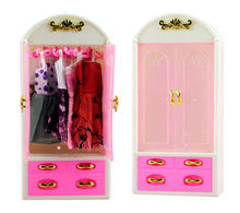 New Pink Closet Wardrobe For Doll Girls Toy Princess Bedroom Furniture