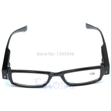 1 PC Multi Strength Reading Glasses Eyeglass Spectacle Diopter Magnifier LED Light UP Christmas Gifts