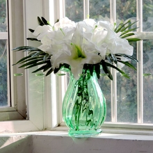 2015 Big Christmas Wedding Home Office Furniture Decor Aromatic Real Touch PU Artificial Lily Flower White No Vase FL5254