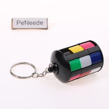 PeNeede Sliding Piece Puzzle Tower Keychain EDC Hand Fidget Fiddle Sensory Toy Kids/Adult Autism/ADHD Slide/Rotate/Spinner Cube