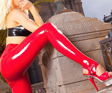 Buy Latex Rubber Pantyhose Tights Latex Stirrup Trousers Red Latex Stepping Leggings