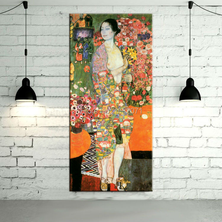 Dafen Oil Painting Village Skilled Artist Handmade High Quality Gustav Klimt The Dancer Ria Munk II Oil Painting On Canvas(China)
