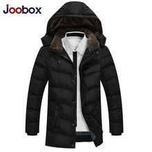2017 New Arrival Long Hooded Mens Fashion Slim Fit Winter Coat Stand Collar Single Breasted Casaco Masculino Male Padded jacket