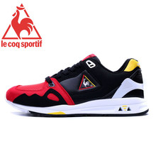 2017 Latest Version Le Coq Sportif Men's Running Shoes Sneakers High Quality Athletic Footwear Black/Red Color 1 Size 40-44