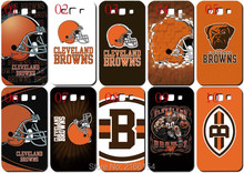 Cleveland Browns logo plastic Hard Cover For Samsung Galaxy S2 S3 S4 S5 Mini S6 S7 Edge Plus Note 2 3 4 5 Mobile Cell phone Case