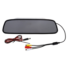 "5"" 5 Inch Digital Color TFT LCD Car Rearview Mirror Reverse Monitor for Camera DVD VCR"