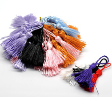 LASPERAL Tassels 100PCs Fixed Mixed Polyester Tassels Pendants For Making Bracelet & Earrings Jewelry 4.5-5cm Long Tassels Charm(China)