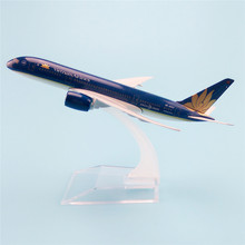 16cm Metal Aircraft Plane Model Air Vietnam Airlines Boeing 787 B787 Airways Airplane Model w Stand Gift