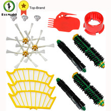 Kit for iRobot Roomba 500 Series Vacuum Cleaning Robots Bristle Brushes Flexible Beater Brush Side Brushes 6-Armed Screw Filters