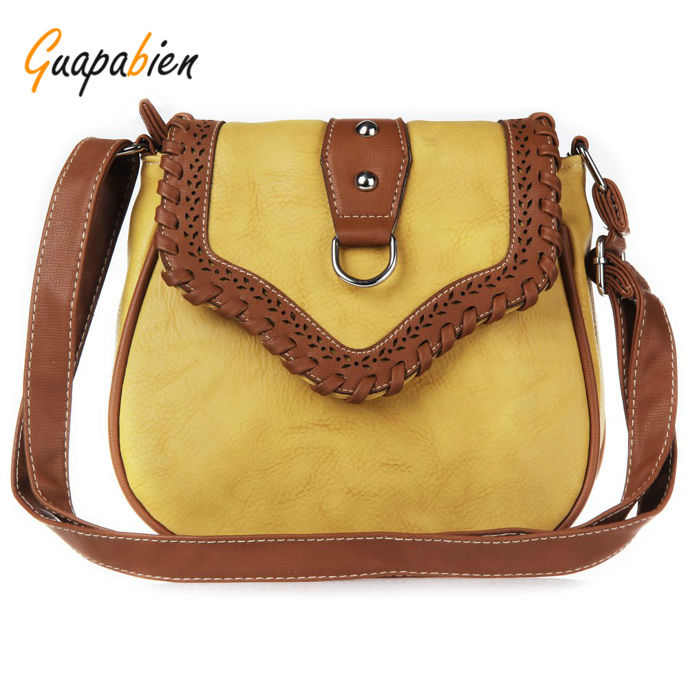 Guapabien National Style  High Quality Pure Color Crossbody Ladies BagsWomen Shoulder Bags Hollow Design Soft Bags Ladies Womens<br><br>Aliexpress