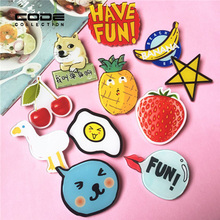 15pcs/set Acrylic Brooch Harajuku lapel Pin For Women Men Devil Fruit Letter Animal Badges Christmas Brooch Jewelry Accessories(China)